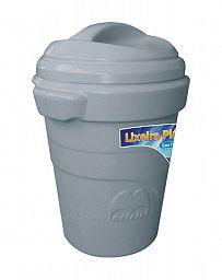 Lixeira plástica com tampa